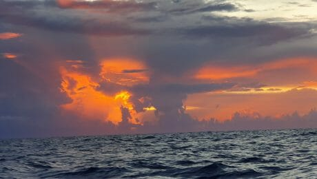 Feuriger Sonnenaufgang